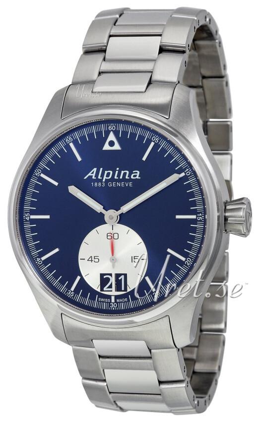 Alpina Startimer Herrklocka AL-280NS4S6B Blå/Stål Ø44 mm - Alpina