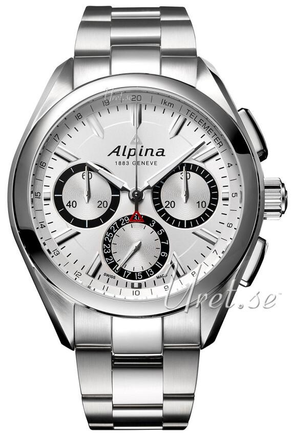 Alpina Alpiner Herrklocka AL-760SB5AQ6B Silverfärgad/Stål Ø44 mm - Alpina