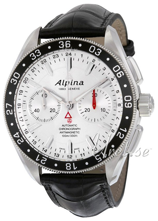 Alpina Alpiner Herrklocka AL-860S5AQ6 Silverfärgad/Läder Ø44 mm - Alpina