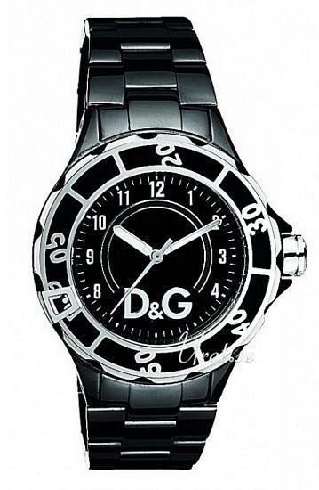 Dolce & Gabbana D&G Anchor Damklocka DW0662 Svart/Stål Ø40 mm - Dolce & Gabbana D&G