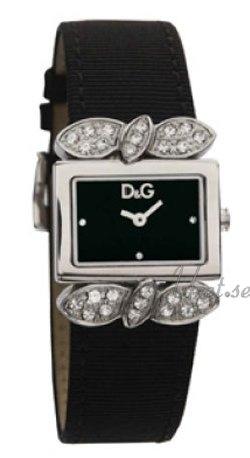 Dolce & Gabbana D&G Damklocka DW0493 Svart/Satin 26x19 mm - Dolce & Gabbana D&G