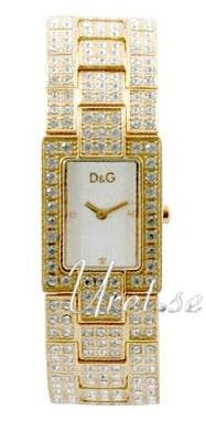 Dolce & Gabbana D&G Chamonix Damklocka DW0007 Vit/Gulguldtonat - Dolce & Gabbana D&G