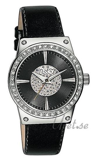 Dolce & Gabbana D&G Dance Damklocka DW0527 Svart/Läder Ø36 mm - Dolce & Gabbana D&G