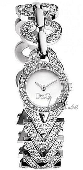 Dolce & Gabbana D&G Cactus Damklocka DW0548 Vit/Stål Ø23.3 mm - Dolce & Gabbana D&G
