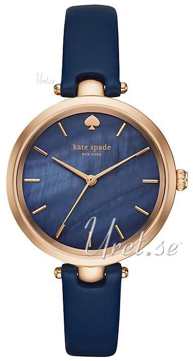 Kate Spade 99999 Damklocka KSW1157 Blå/Läder Ø34 mm - Kate Spade