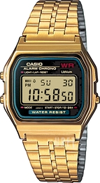 Casio Casio Collection Gulguldtonat stål 36.8x33.2 mm A159WGEA-1EF