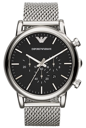 Emporio Armani Dress Svart/Stål Ø46 mm AR1808