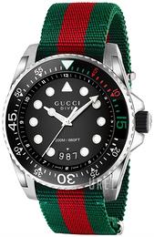 4120e5c5020 Gucci Dive Svart Stål Ø45 mm YA136209