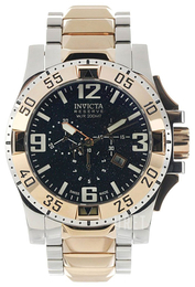 Invicta Excursion Svart/Guldtonat stål Ø50 mm 0204
