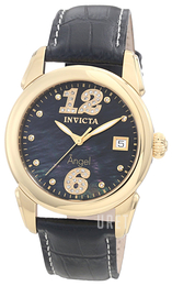 Invicta Angel Diamond Svart/Läder Ø38 mm 0771