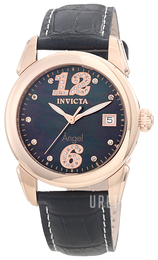 Invicta Angel Diamond Svart/Läder Ø38 mm 0775