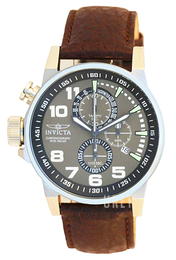 Invicta Force Grön/Läder Ø46 mm 13054