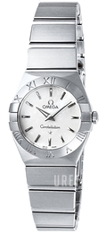 Omega Constellation Quartz 24mm Vit/Stål Ø24 mm 123.10.24.60.05.001