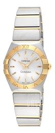Omega Constellation Quartz 24mm Silverfärgad/18 karat gult guld Ø24 mm 123.20.24.60.02.002