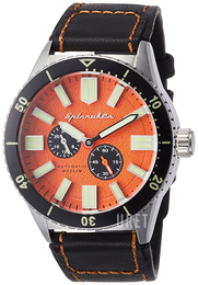Spinnaker Orange/Läder Ø43 mm SP-5032-02