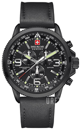 Swiss Military Sport Svart/Läder Ø46 mm 06-4224.13.007