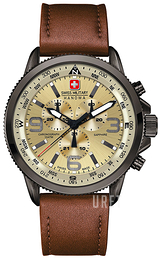 Swiss Military Sport Beige/Läder Ø46 mm 06-4224.30.002