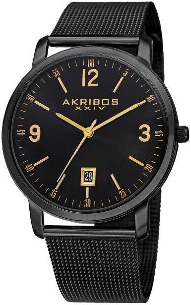 Akribos XXIV 99999 Herrklocka AK858BK Svart/Stål Ø42 mm - Akribos XXIV