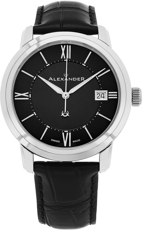 Alexander Heroic Herrklocka A111-01 Svart/Läder Ø40 mm - Alexander
