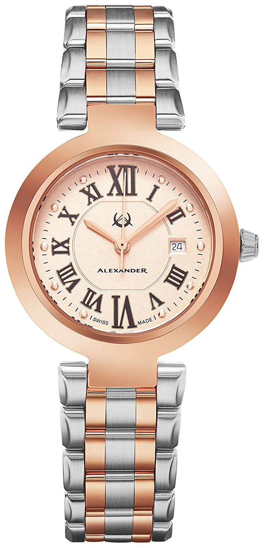 Alexander Monarch Damklocka A203B-04 Roséguldstonad/Roséguldstonat stål - Alexander