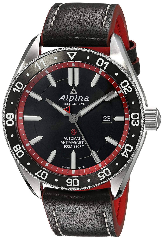 Alpina Alpiner Herrklocka AL-525BR5AQ6 Svart/Läder Ø44 mm - Alpina
