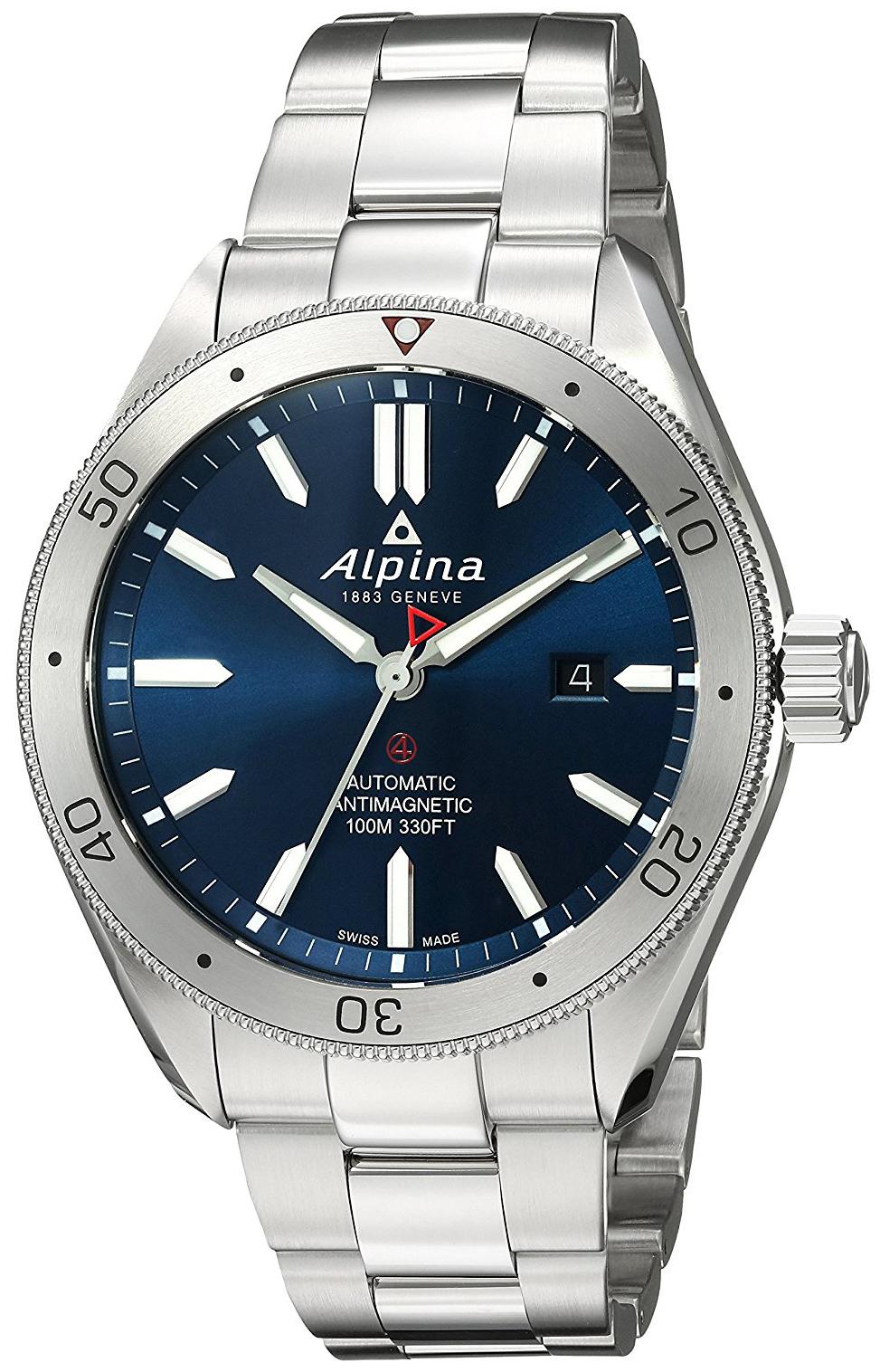 Alpina Alpiner Herrklocka AL-525NS5AQ6B Blå/Stål Ø44 mm - Alpina