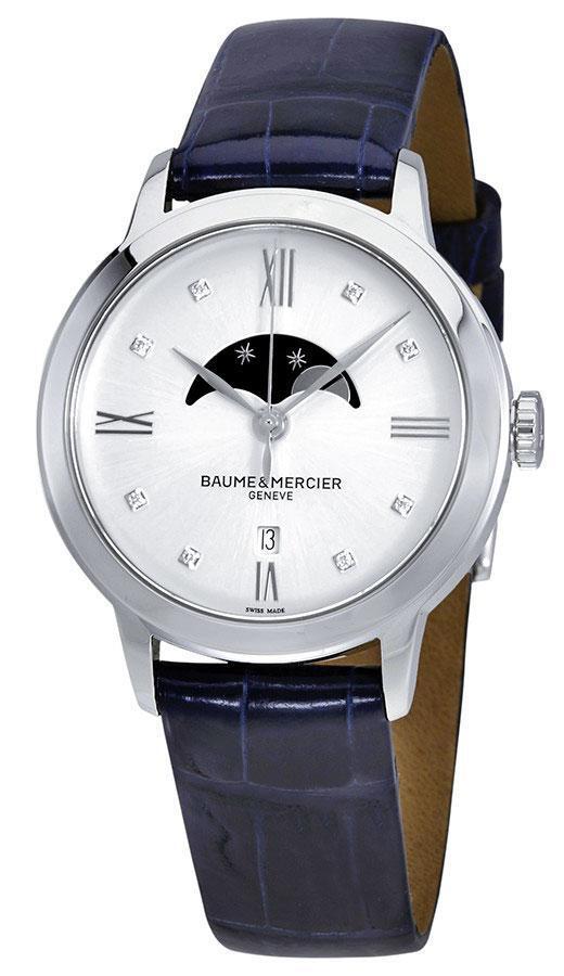 Baume & Mercier Classima Damklocka M0A10329 Silverfärgad/Läder - Baume & Mercier