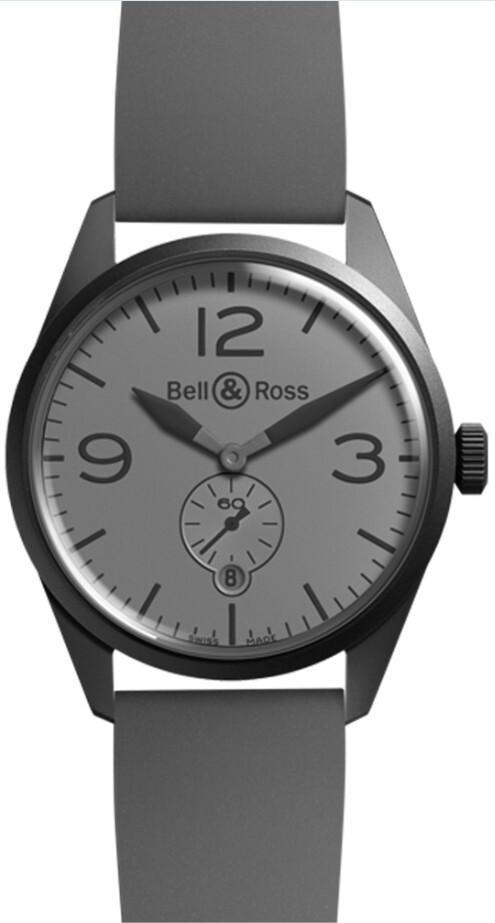Bell & Ross BR 123 Herrklocka BRV123-COMMANDO Grå/Gummi Ø41 mm - Bell & Ross