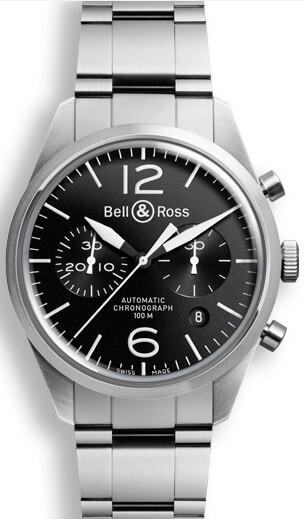 Bell & Ross BR 126 Herrklocka BRV126-BL-ST-SST Svart/Stål Ø41 mm - Bell & Ross