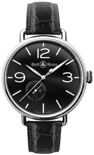Bell & Ross WW1 Herrklocka BRWW197-BL-ST Svart/Läder Ø45 mm - Bell & Ross