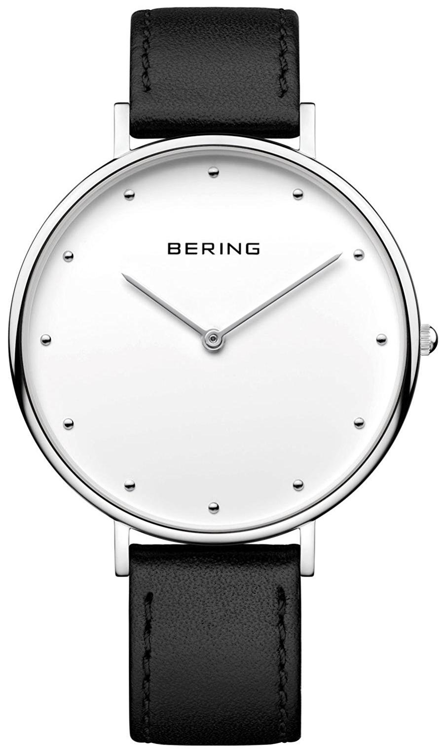 Bering Classic 14839-404 Vit/Läder Ø39 mm - Bering