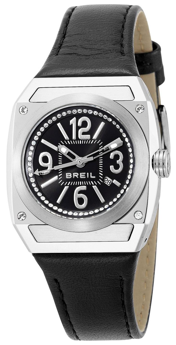 Breil Dress Damklocka TW0696 Svart/Läder - Breil