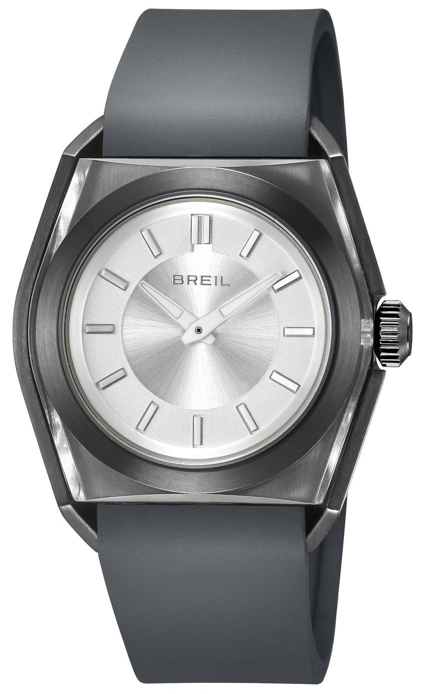 Breil Essence Herrklocka TW0979 Silverfärgad/Gummi - Breil