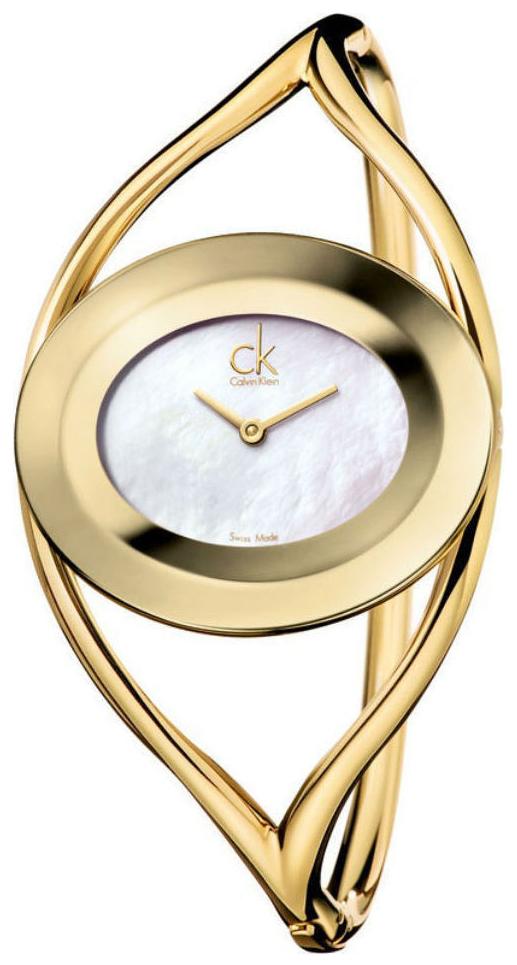 Calvin Klein Delight Damklocka K1A2381G Silverfärgad/Gulguldtonat stål - Calvin Klein