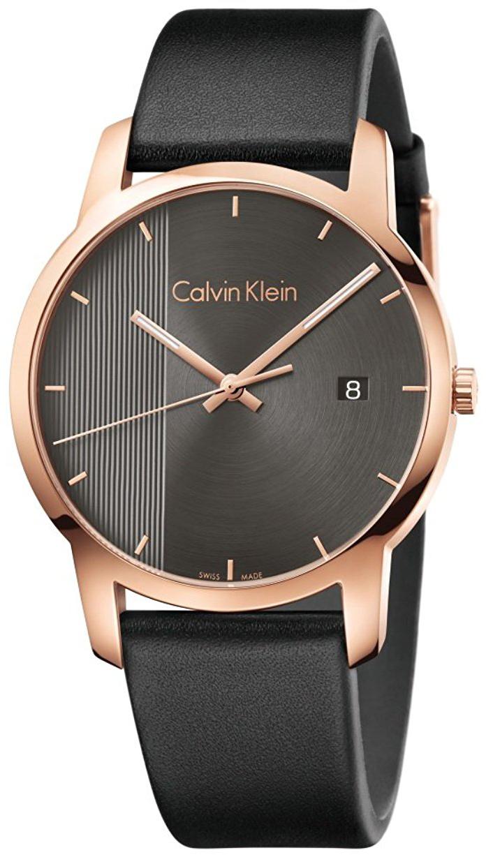 Calvin Klein City Herrklocka K2G2G6C3 Svart/Läder Ø43 mm - Calvin Klein