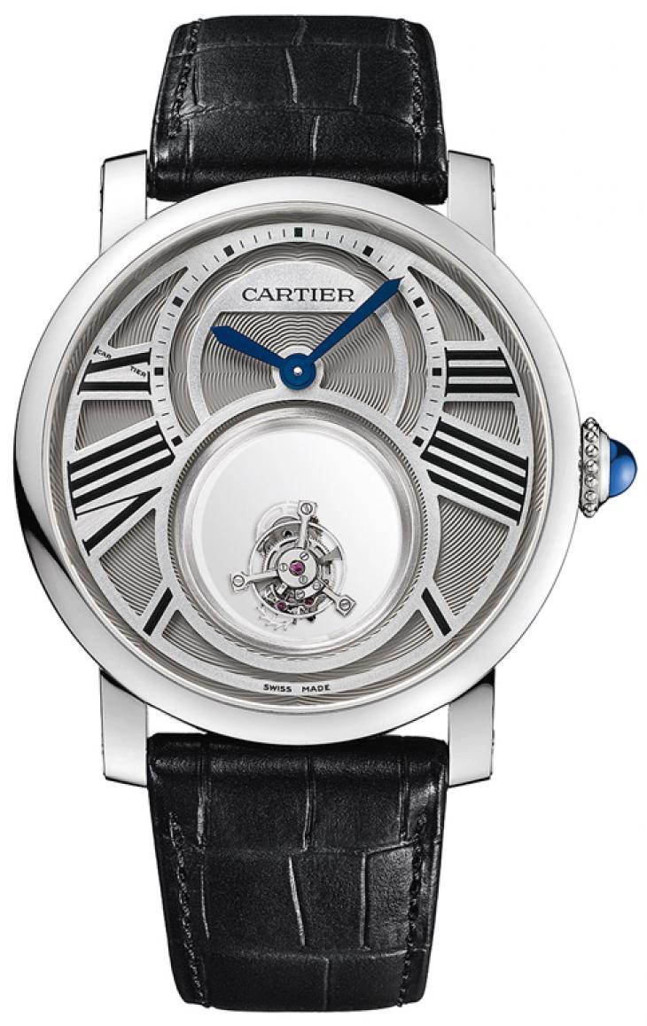 Cartier Rotonde De Cartier Herrklocka W1556210 Silverfärgad/Läder Ø45 mm - Cartier