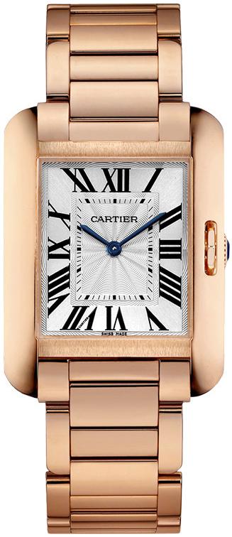 Cartier Tank Anglaise Damklocka W5310041 Silverfärgad/18 karat roséguld - Cartier