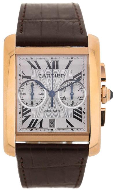 Cartier Tank Mc Herrklocka W5330005 Silverfärgad/Läder - Cartier