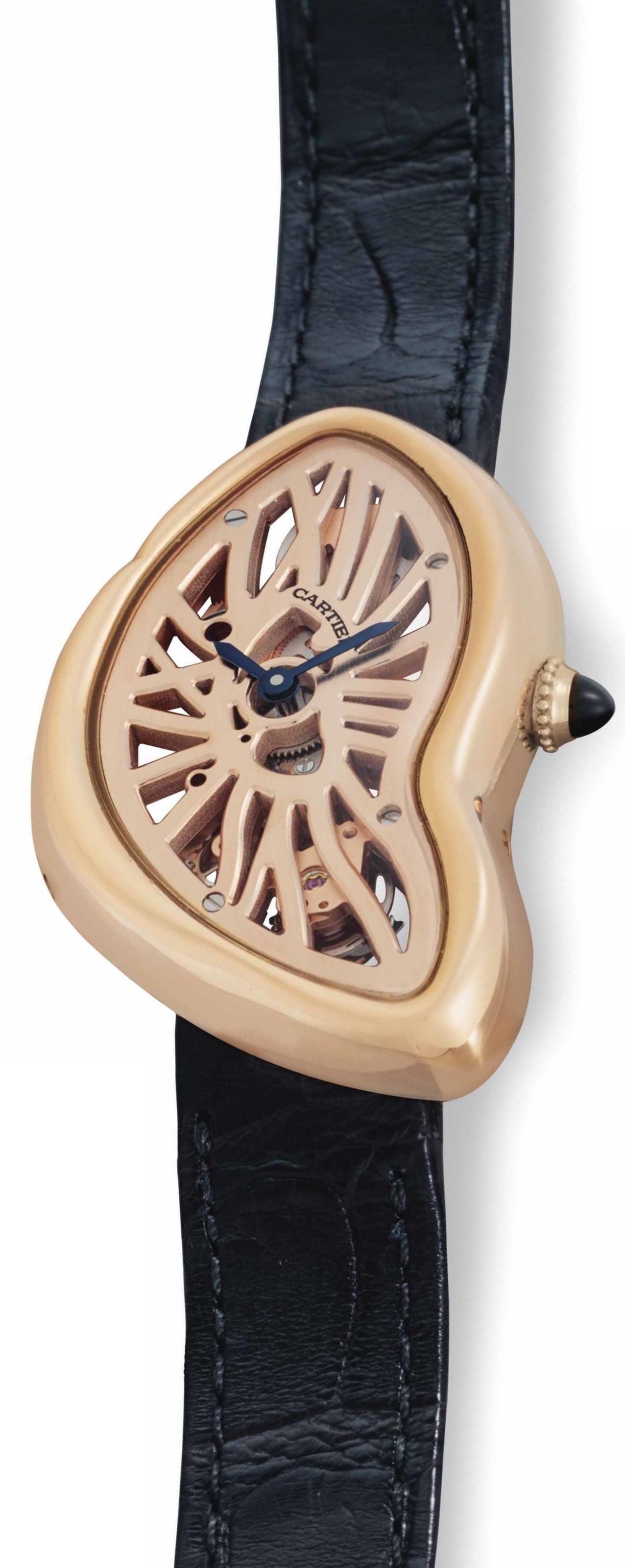 Cartier Crash Damklocka WHCH0006 Skelettskuren/Läder - Cartier