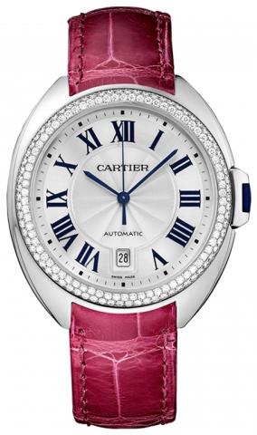 Cartier Cle De Cartier WJCL0011 Silverfärgad/Läder Ø40 mm - Cartier