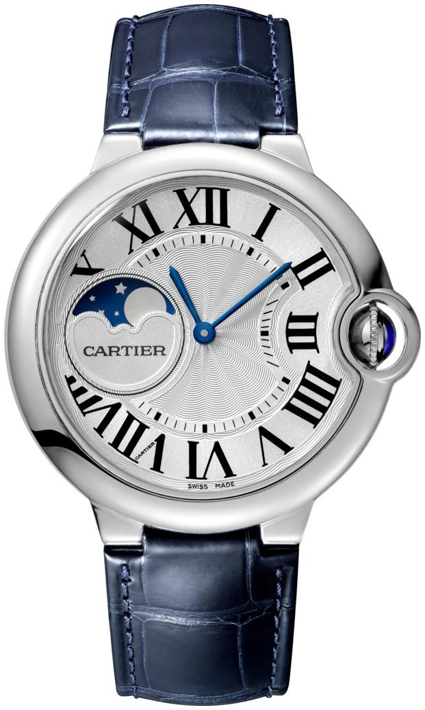 Cartier Ballon Blue Herrklocka WSBB0020 Silverfärgad/Läder Ø37 mm - Cartier