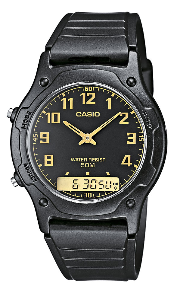 Casio Casio Collection Herrklocka AW-49H-1BVEF Svart/Resinplast Ø38.8 mm - Casio
