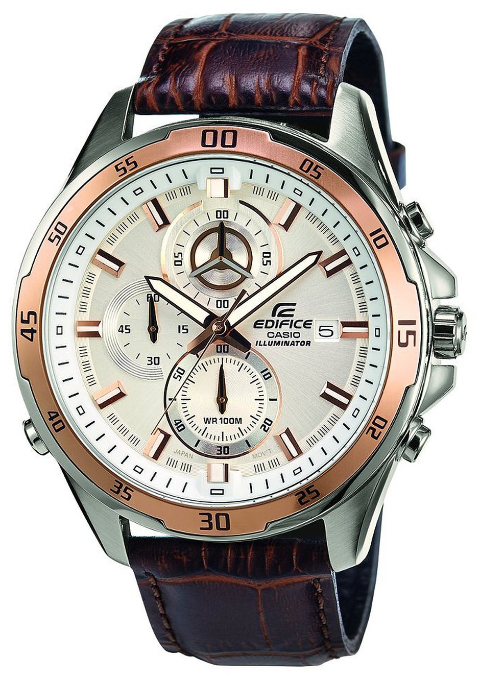 Casio Edifice Herrklocka EFR-547L-7AVUEF Vit/Läder Ø47 mm - Casio