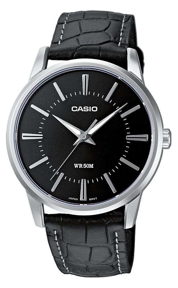 Casio Casio Collection Herrklocka MTP-1303L-1AVEF Svart/Läder Ø40 mm - Casio