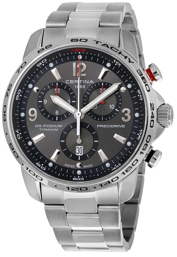 Certina DS Podium Chrono Herrklocka C001.647.44.087.00 Grå/Titan Ø44 mm - Certina