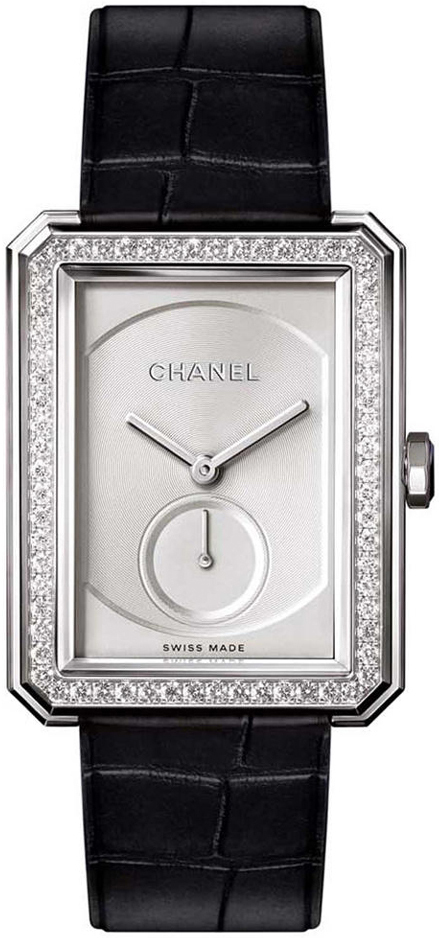 Chanel Boy-Friend Damklocka H4472 Beige/Läder - Chanel