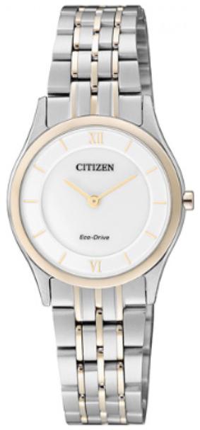 Citizen Elegance Herrklocka EG3225-54A Silverfärgad/Roséguldstonat stål - Citizen