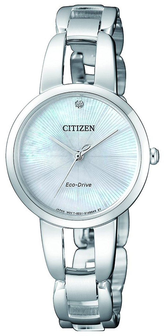 Citizen Dress Damklocka EM0430-85N Silverfärgad/Stål Ø29 mm - Citizen