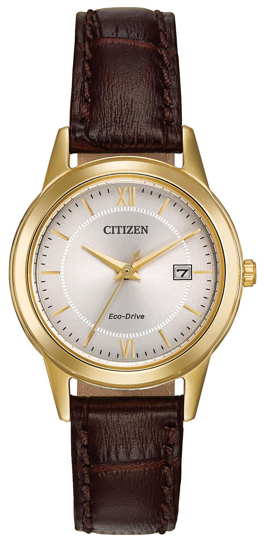 Citizen 99999 Damklocka FE1082-05A Silverfärgad/Läder Ø28 mm - Citizen