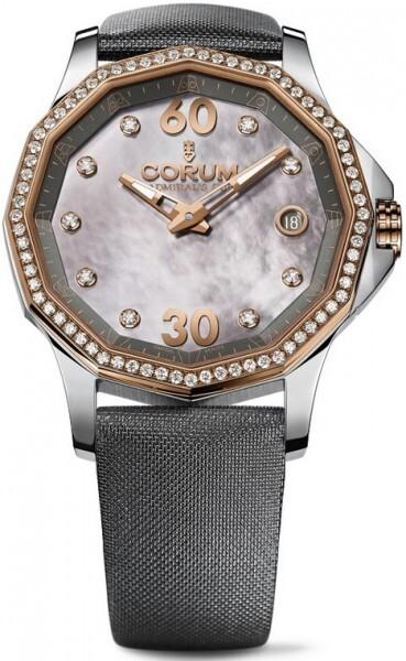 Corum Admirals Cup Legend 38 Damklocka 082.101.29-F149 PK10 Vit/Textil - Corum
